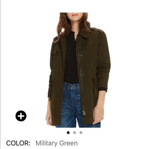 NWT scotch & soda tonal camp-print military jacket